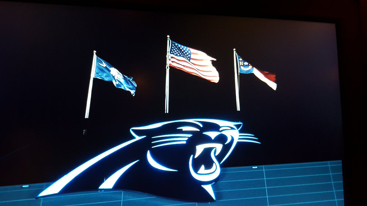 Panthers Pride still strong in Charlotte this morning. We're LIVE from BofA Stadium. @WCCBNewsRising @WCCBCharlotte