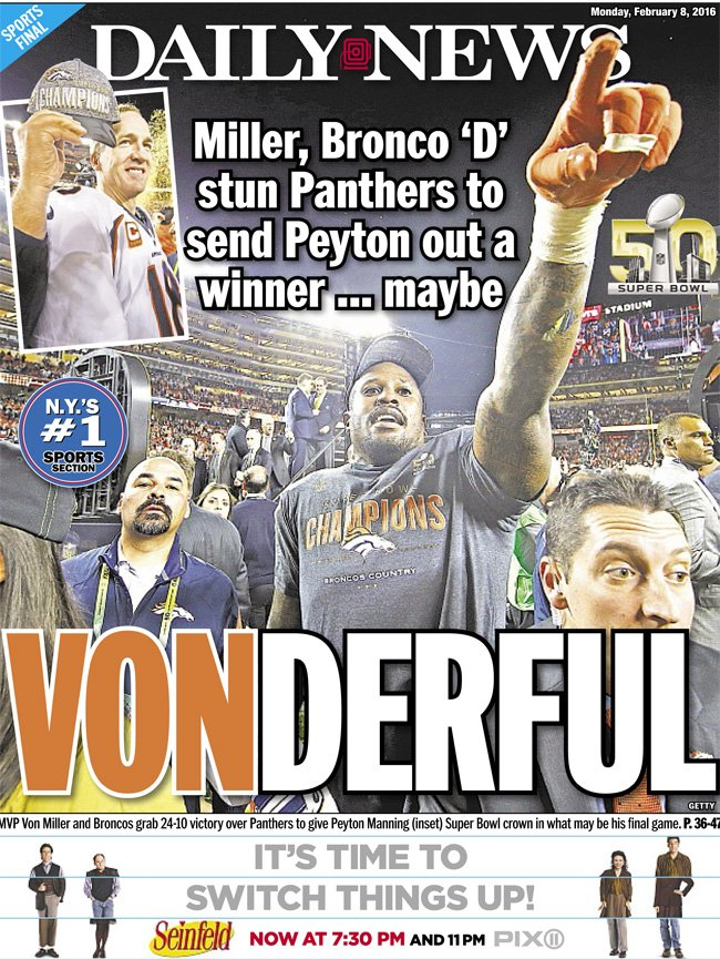 Today's @NYDNSports back page
