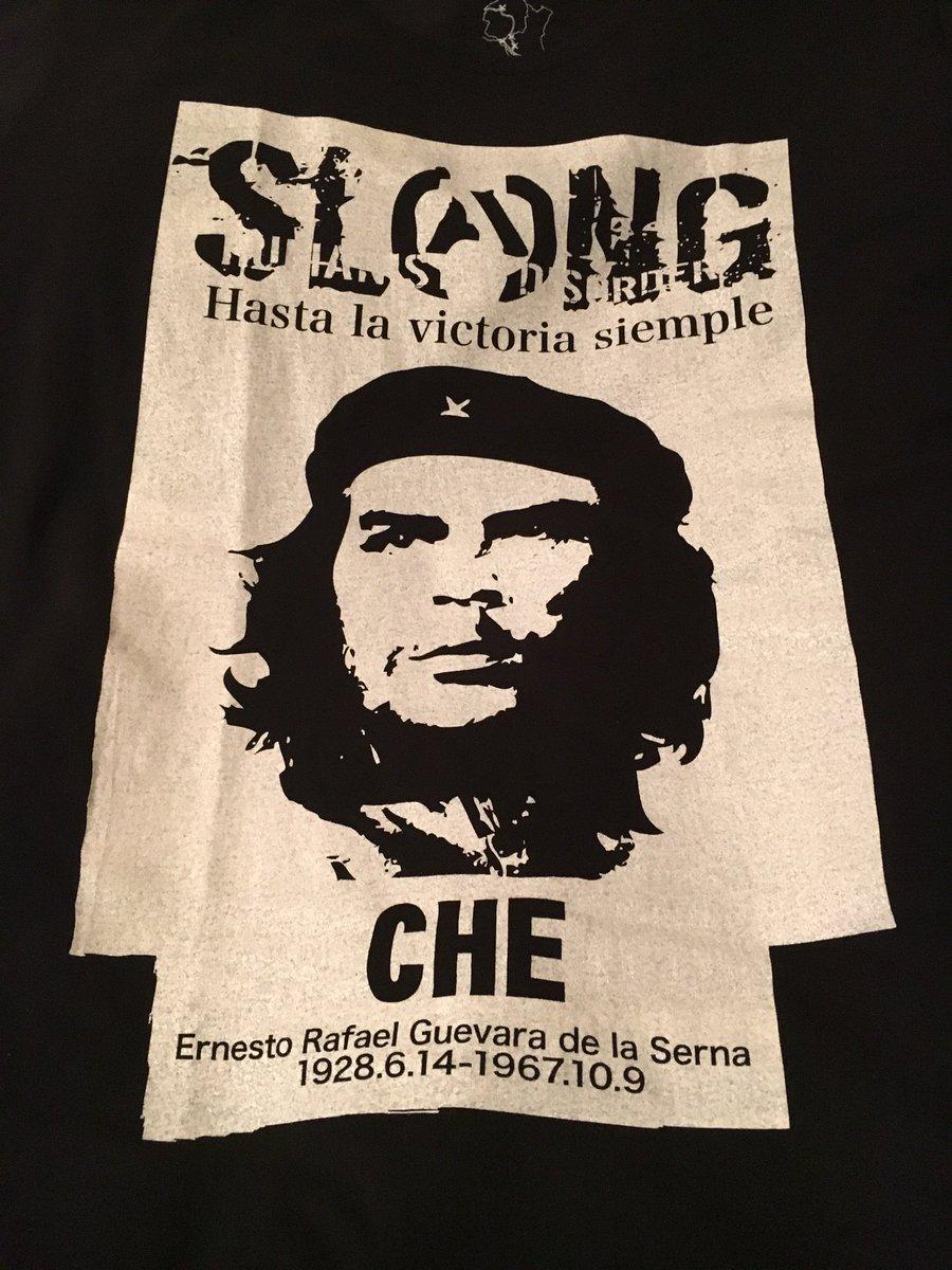 スラングのゲバラTシャツ届いた! 常総のリユースTシャツで1番魅力的だったプリント^ ^ #Tシャツ再生大作戦 https://t.co/7czJPlUpY4