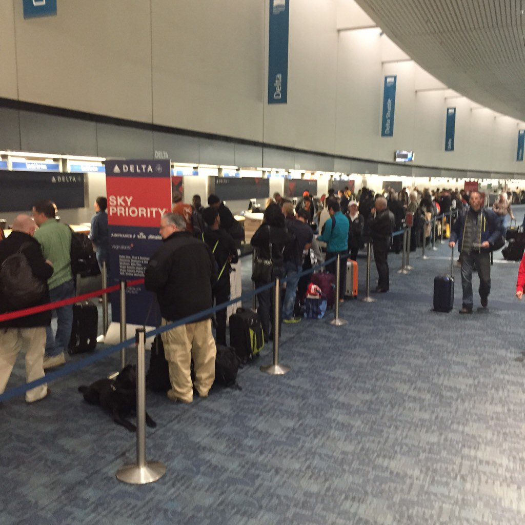 The mad rush to go home from the Super Bowl is on! SFO expecting a 50% increase in passengers today.