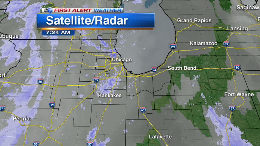 Light snow around Chicago It is reducing visibility at times & accumulating a dusting so far