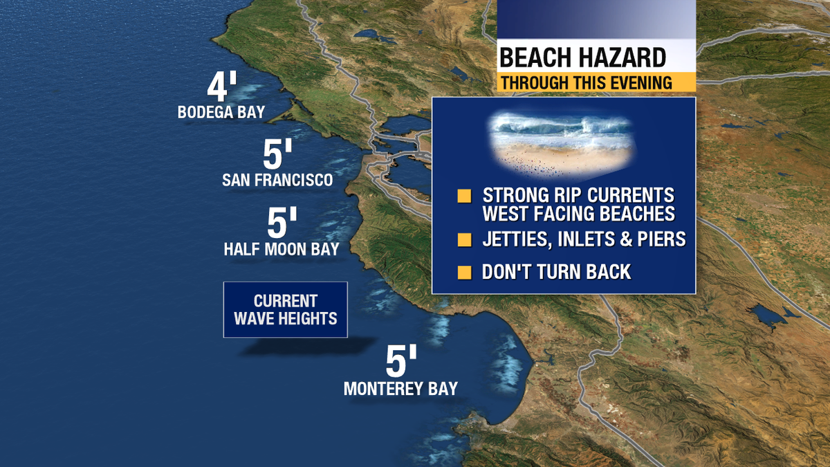 70s at our beaches today! Dangerous rip currents also. Enjoy but be diligent if entering the water.