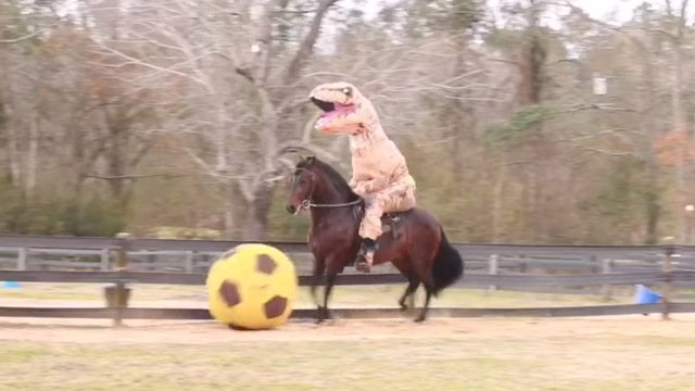 from Mississippi of T-Rex on a horse goes viral