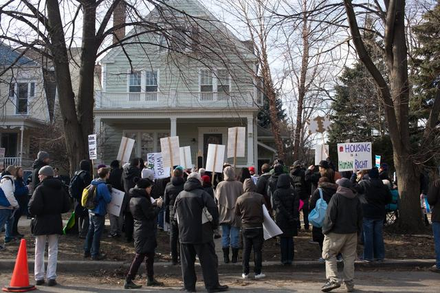 Protesters Return To Rahm's Ravenswood House To Demand TIF Reform