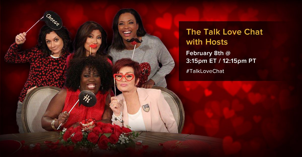 RT @TheTalkCBS: Tweet your #TalkLoveChat questions & you'll be entered to win our Valentines Sweepstakes: https://t.co/ygs3ZN6rR2 https://t…