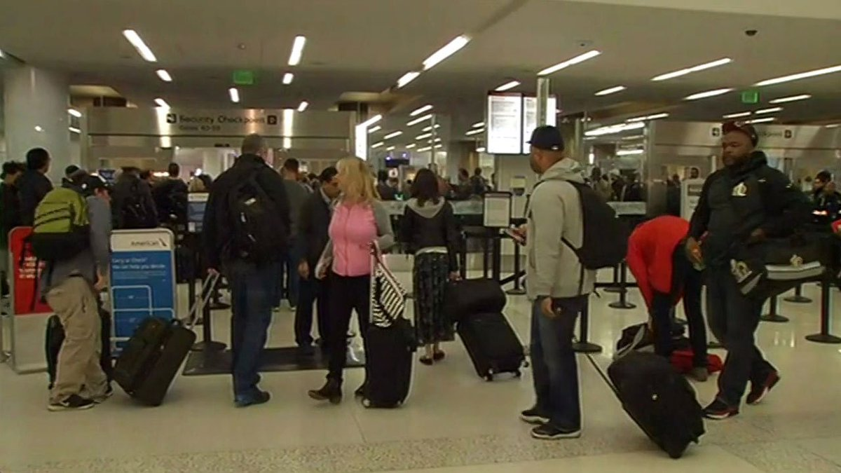 SFO advising travelers to arrive 3 hours before departure due to crowds leaving from SB50.