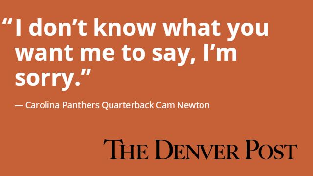 CarolinaPanthers' QB CamNewton had little to say after SB50: by @psaundersdp