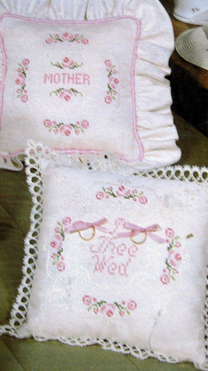 Cross Stitch Book Vintage 1982 Damask Rose Lee Tompkins