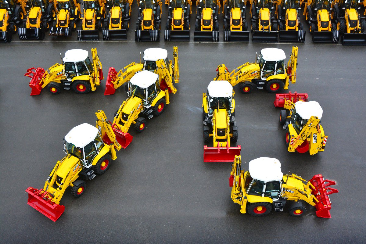 Production is underway of the first batch of colourful limited edition machines to mark JCB's 70th anniversary! https://t.co/lJtFJYcsfu