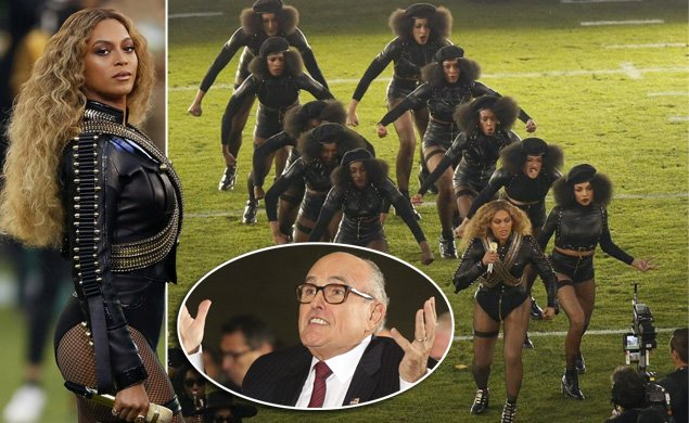 Former Mayor Giuliani calls @Beyonce's halftime 'Black Panther' salute 'an attack' on police