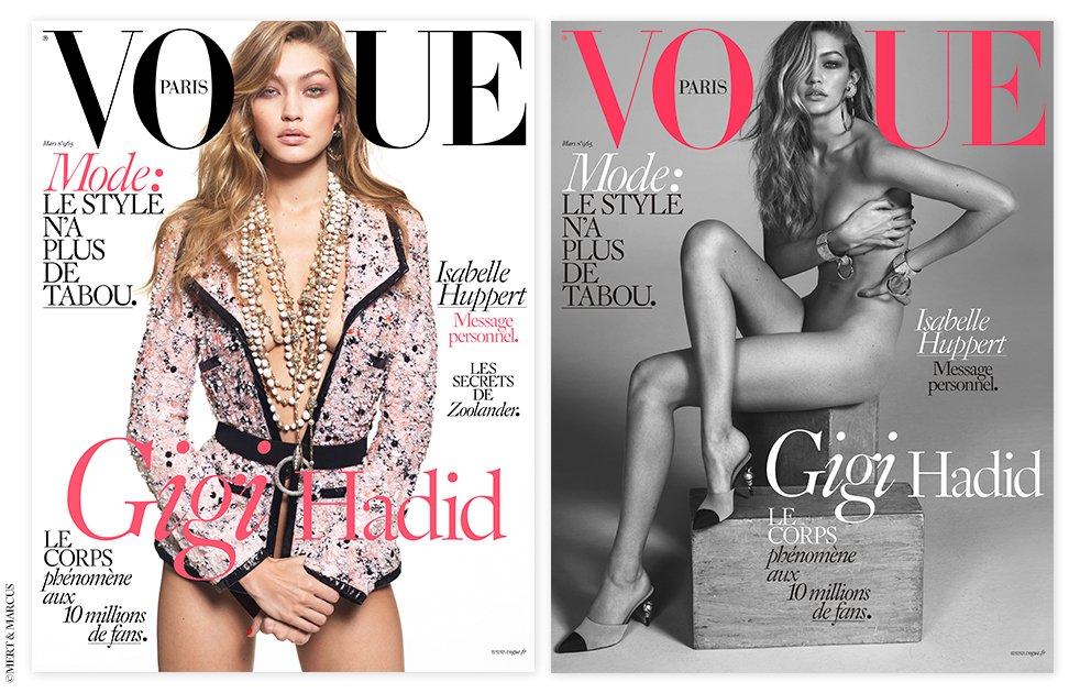 Vous l'aviez rêvé #VogueParis l'a fait! #GigiHadid est notre nouvelle cover girl https://t.co/NePTaQq5Ji @GiGiHadid
