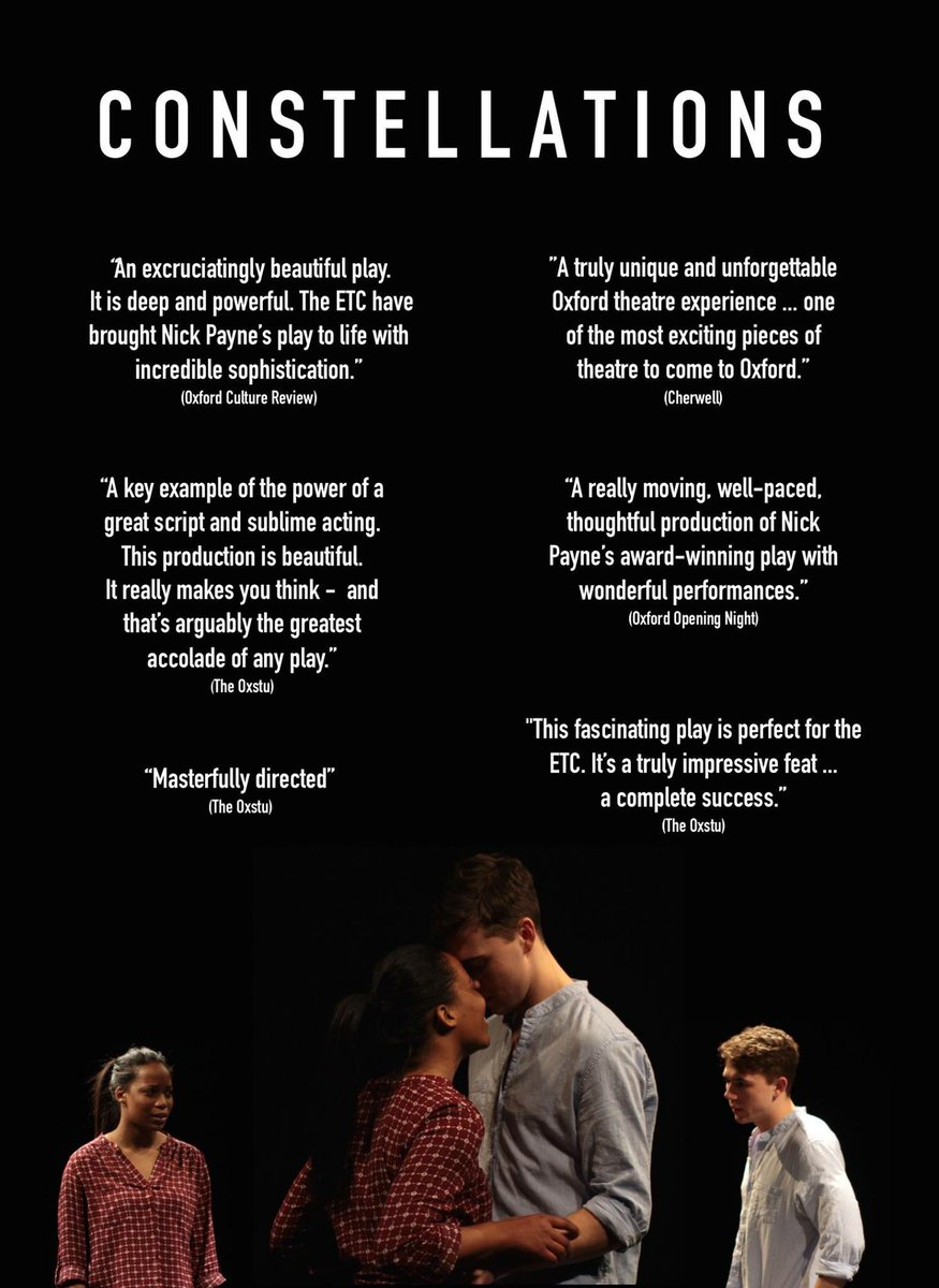 Stunning reviews for our fabulous SHANNON HAYES in CONSTELLATIONS!