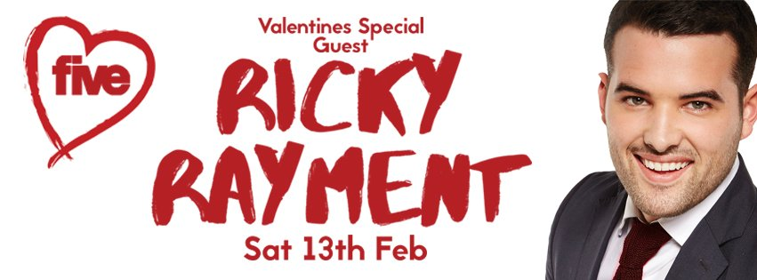 RT @fivebarhud: This Valentines Saturday @ FIVE! TOWIE star @RickyRament will be joining us! For VIP tables call 01484 517507 https://t.co/…