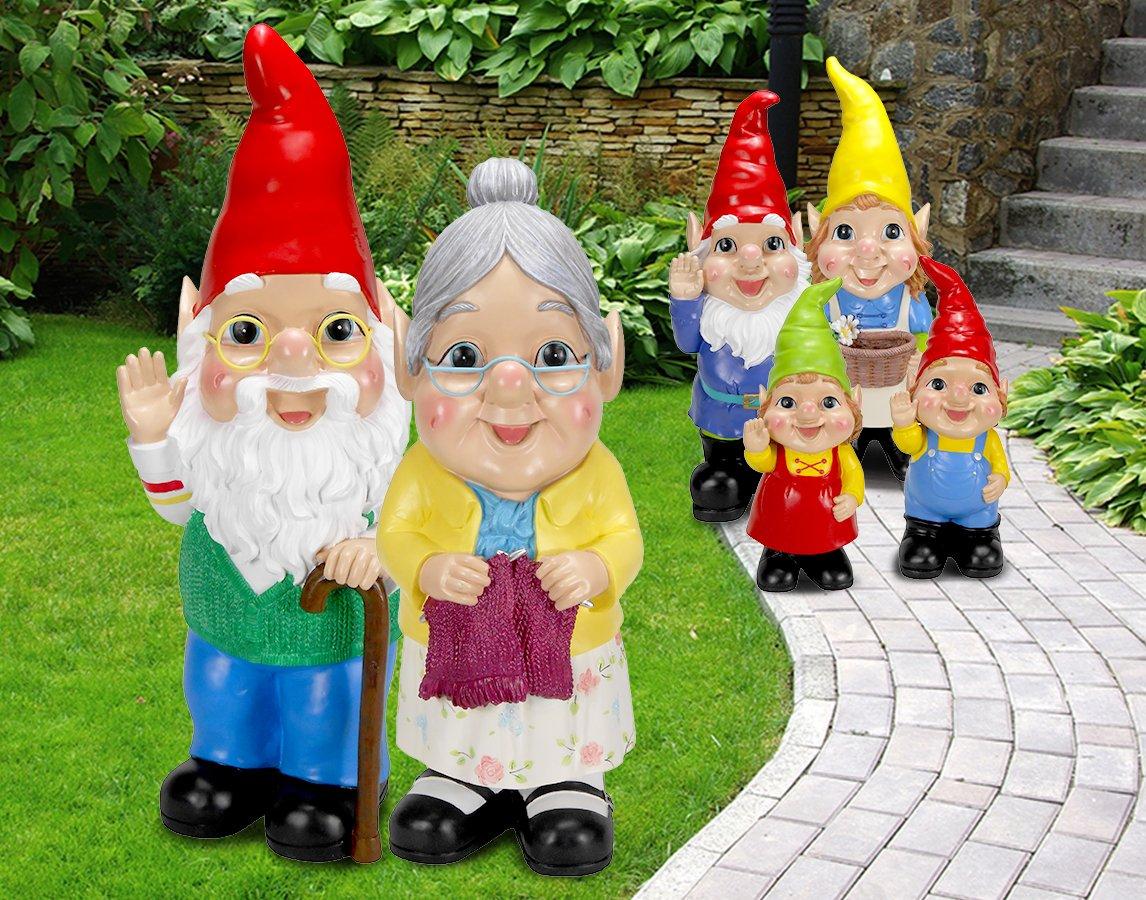 Gnome In Garden: Large Garden Gnomes Asda