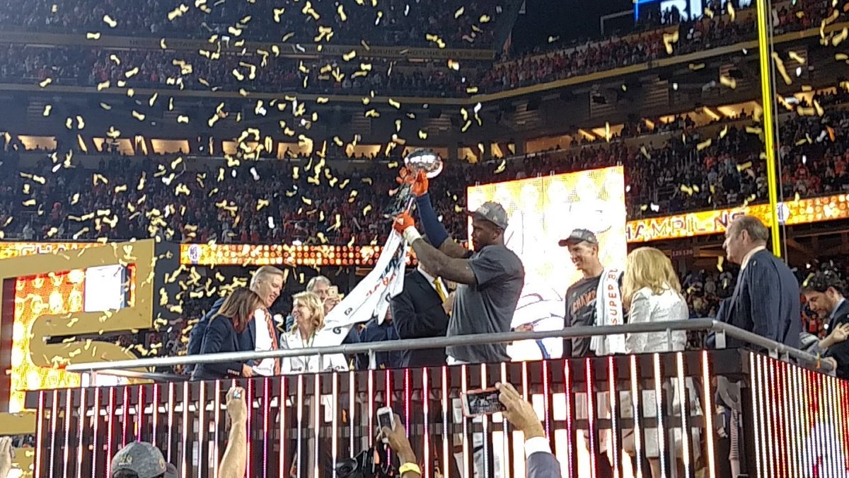 Broncos linebacker Von Miller turned a negative two years ago into a positive. Happy for the guy. SuperBowlMVP