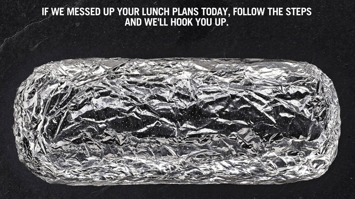 Here's how to get your free Chipotle burrito 'raincheck'