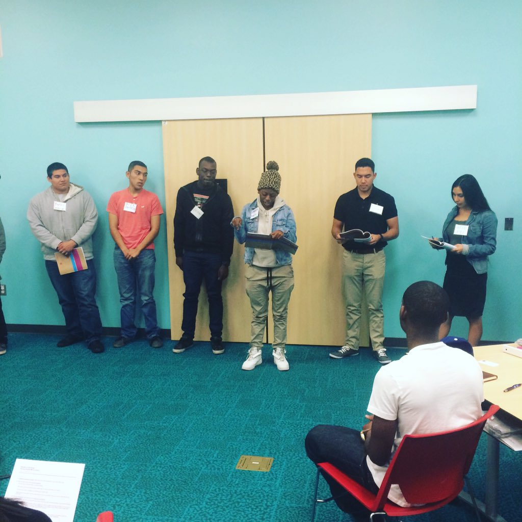 #LACOFirePrep participants presenting on what they learned about budgets. #LACounty #Careers