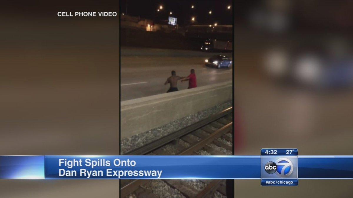 WATCH: Fight at CTA station spills onto Dan Ryan expressway...