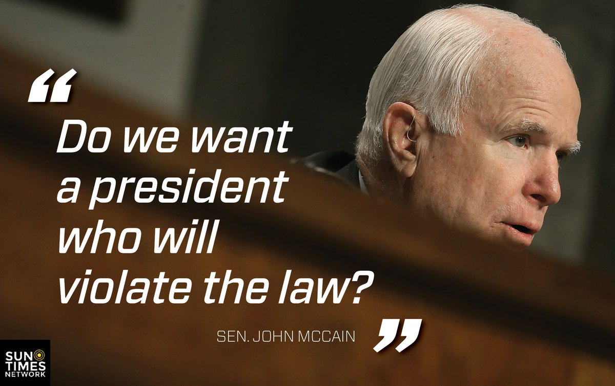 McCain denounces Trump's desire to bring back waterboarding and