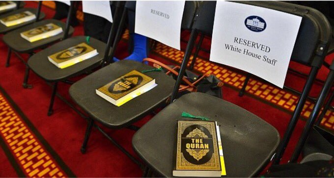 Obama staff given qurans during #mosquevisit