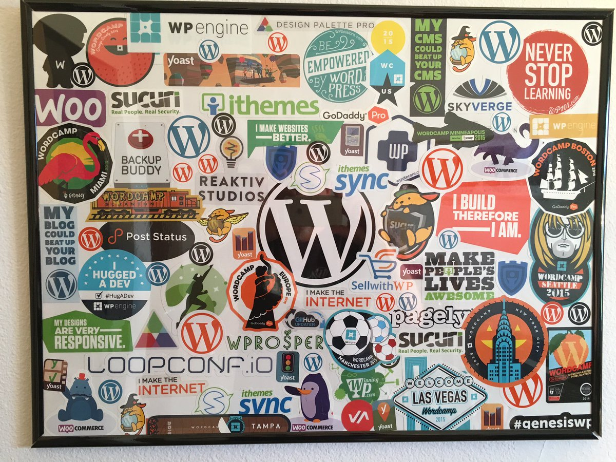 Well, my first WP Sticker collage is finished, had some left over so maybe #2 will be on it's way when I get more https://t.co/629w8WfeuY