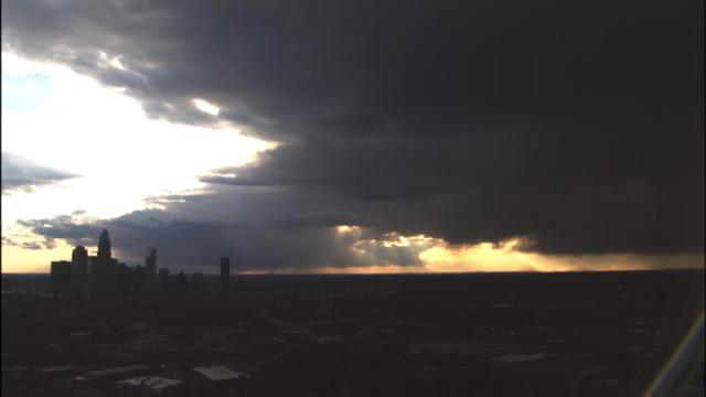 Rain is moving into Charlotte. Shot from our tower cam. @SUdelsonWSOC9 has more NEXT.