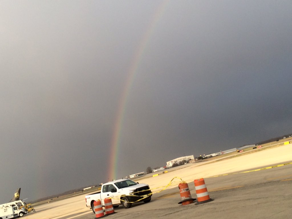 Always hope after a storm. A rainbow as we await the Panthers return. @wsoctv @Panthers