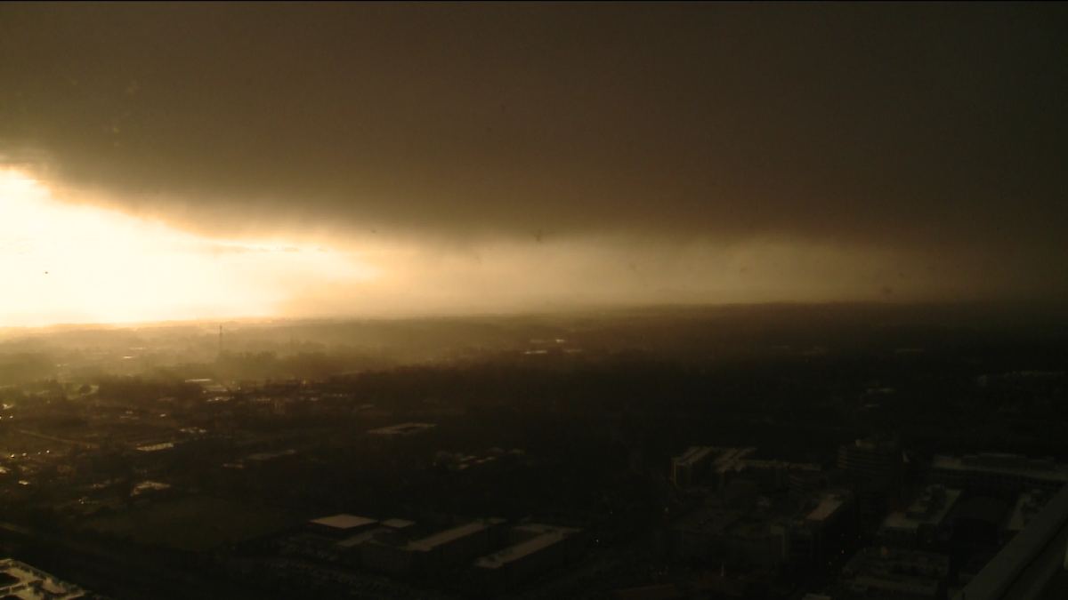 Looks scary but just a brief convective rain/sleet/snow shower, really cold air aloft. cltwx