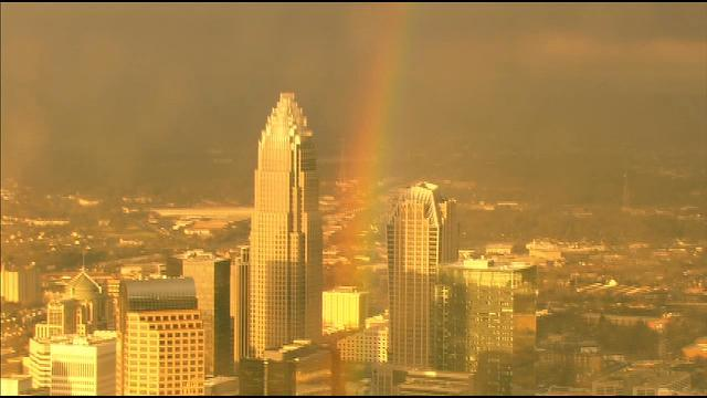 Rainbow: What's at the end of this rainbow? Welcome home @Panthers! KeepPounding PantherNation