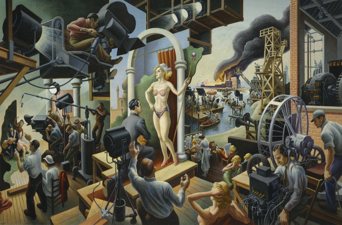 Experience the drama of Hollywood & the works of Thomas Hart Benton @theamoncarter now. ACMbenton PC:JamisonMiller