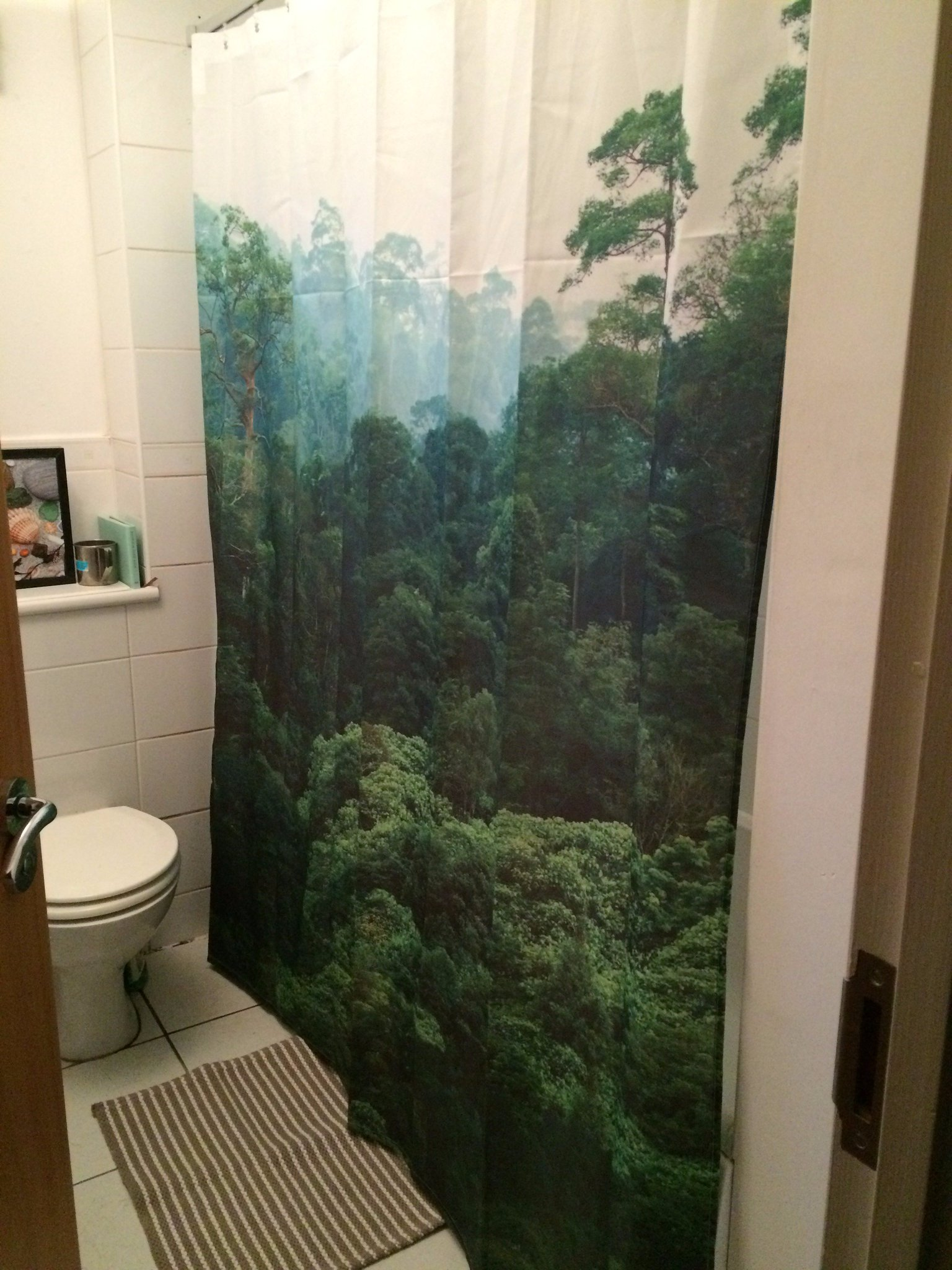 Rainforest shower curtain - Eve On Twitter Turned My Bland Bathroom Into A Rainforest Today With This Gorgeous Shower Curtain From Hm Jungle Decor Hmhome Https T Co S5v9rjl4uk