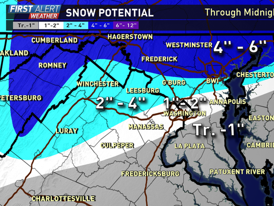 Most of the DC area won't see a lot of snow, but it could still impact your commute.