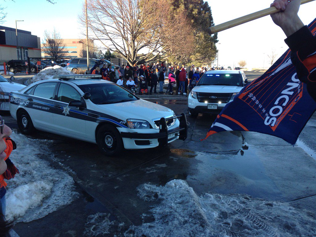 It's getting real now outside Dove Valley. Broncos