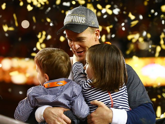 Broncos celebrate Super Bowl 50 win with their families SB50