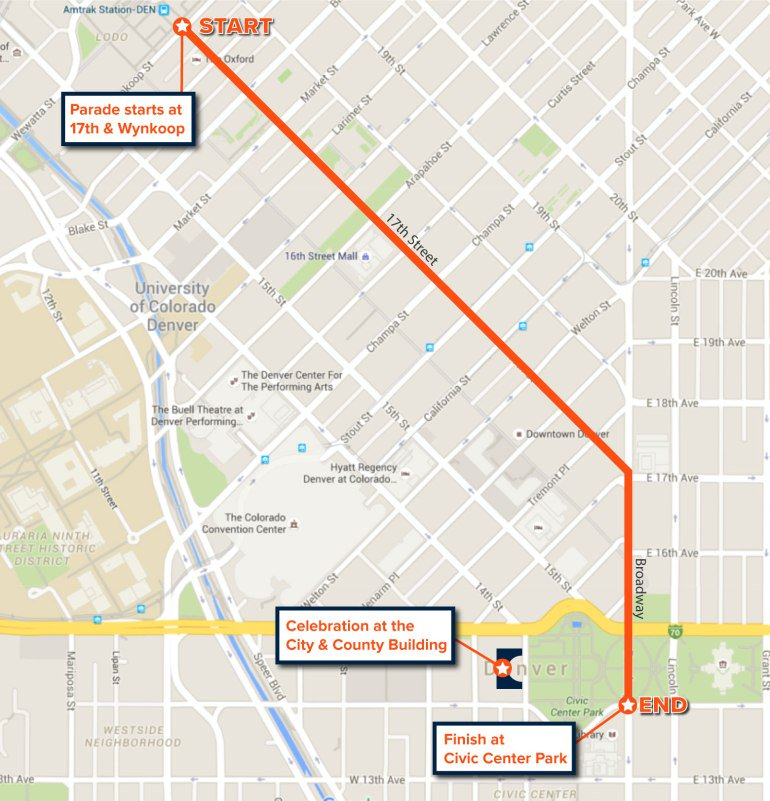 Broncos parade and celebration will be Tuesday; full schedule and map via @KDVR