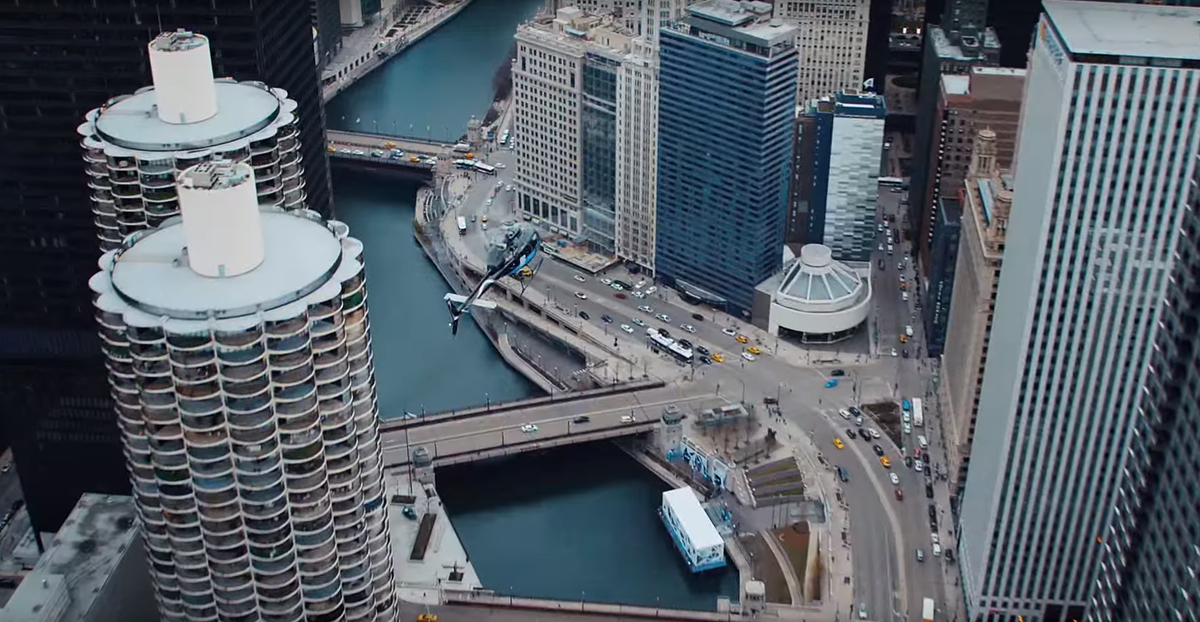 Chicago looked fantastic in the Toyota Prius Super Bowl commercial.