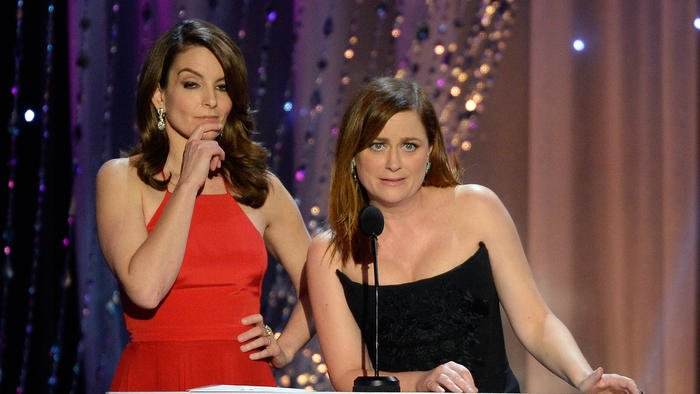 Are female comics as funny as men? Tina, Amy, Kristen and Mindy are tired of you asking.