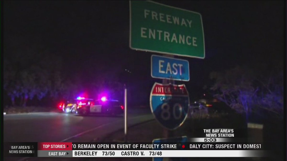 Police investigating shooting on WB I-80 in Pinole. @DanKermanSF reports.