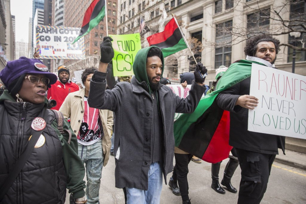 Chicago State University students protest state budget impasse