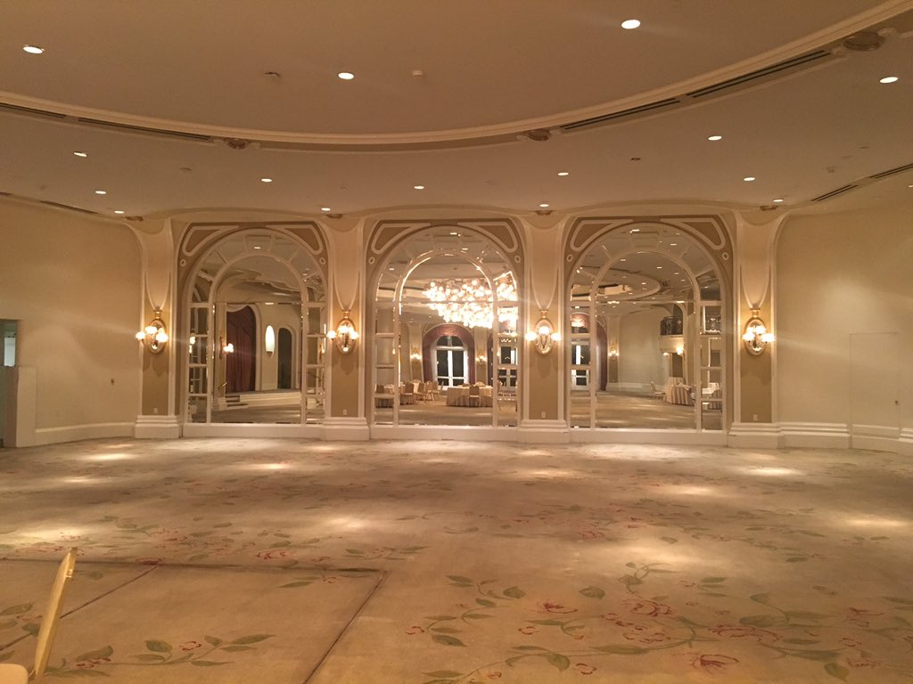 Just snuck into the crystal ballroom at the BHH. Wow. https://t.co/PqXqhMgHb6