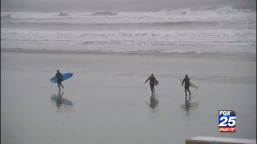 Surfing in this weather? A few guys tell @tvnewzted this is what they live for!