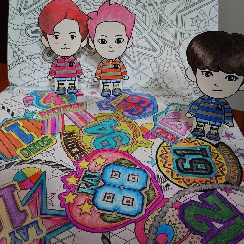 EXO FANBASE On Twitter EXOs Coloring Book A DAY IN EXOPLANET Cr Twinkyten Tco Q3Nd3z41Nh