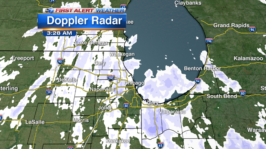 Latest burst of snow pushing across Chicago More details coming up @abc7chicago at 4:30am