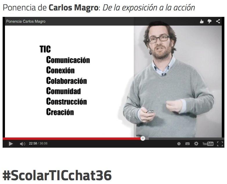 Las #TIC para producir, crear, compartir... Únete hoy (16:00 en España) al #ScolarTICchat36 con @c_magro @ScolarTIC https://t.co/UQLOPtx2Z1