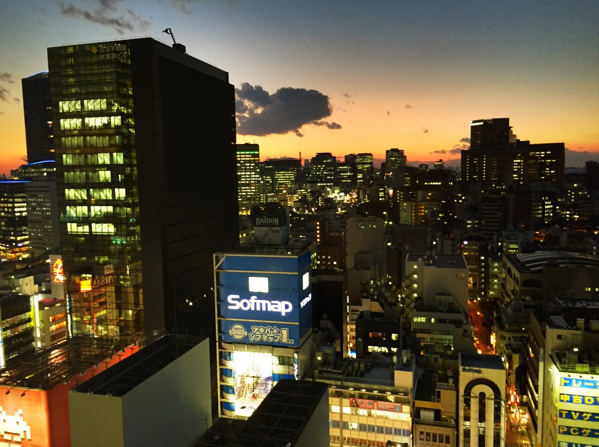The sky over #Tokyo now in #Akihabara https://t.co/C1T4kev5CB