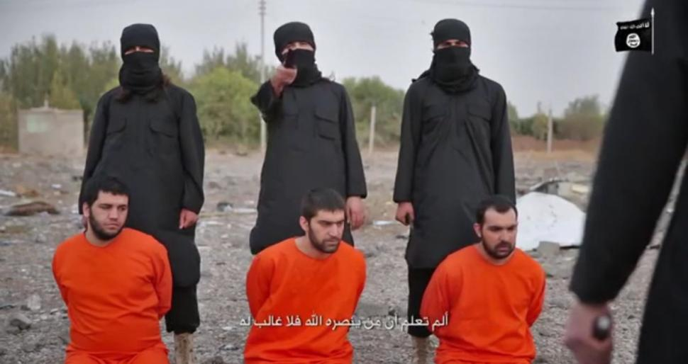 A terrorist in the ISIS execution crew calling themselves