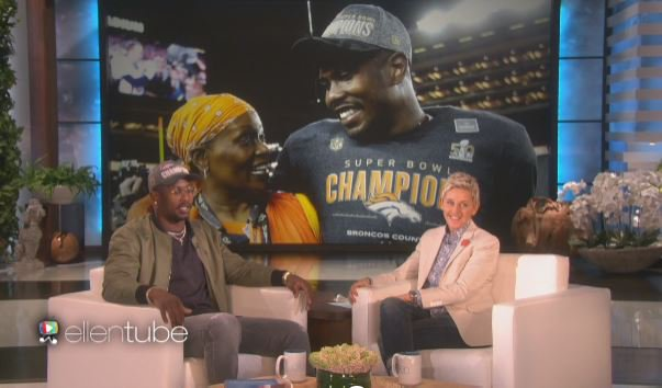 Von Miller told Ellen he was happy to get to celebrate the win w/ his mom: 9newsmornings