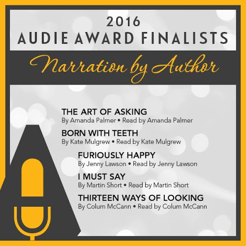 It is an honor to announce the #Audies2016 Narration by Author finalists. Congratulations! https://t.co/66TEVYgkAU