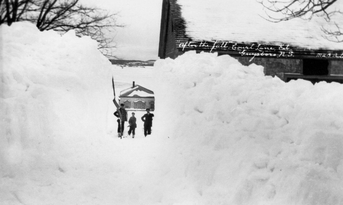 Don't put those shovels away just yet, and remember - it could always be worse! Guysborough, N.S. 1913 https://t.co/D68JiVapBe