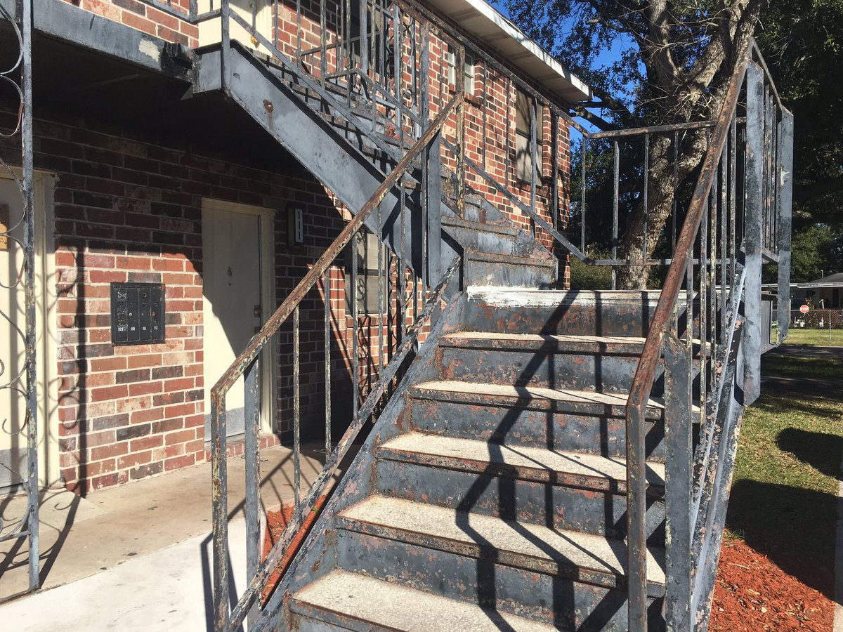 We found stairs that still need to be fixed at Eureka Gardens @ActionNewsJax